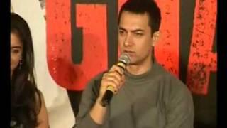 Aamir Khan and Asin celebrate Ghajini