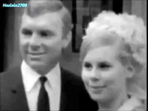 February 14, 1967 - Bobby Moore with his wife Tina after collecting an OBE from The Queen
