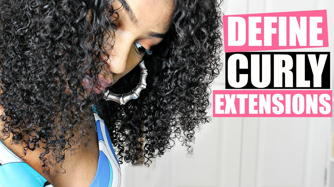 How To Define Curly Hair Extensions Wigs Weave Clip Ins Youtube