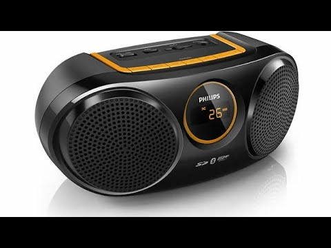 Philips AT10/00 Wireless Portable Speaker | Philips Bluetooth Speaker | Portable FM radio Philips |