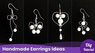 4 Cheap and Easy Earrings. Handmade Jewelry Ideas