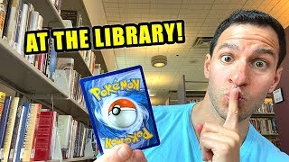 *RARE POKEMON CARDS PULLED IN LIBRARY!* Opening UNBROKEN BONDS Box!