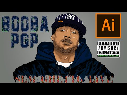 Booba - PGP ( adobe illustrator ) illustration DRAW BOOBA 2019 thumbnail