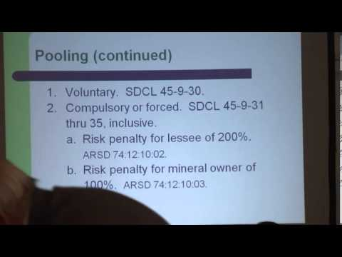 Oil, Gas & Mineral Law Issues Clip 8