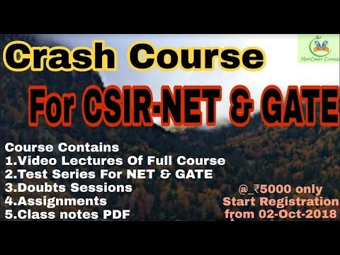 Crash Course For CSIR-NET Chemical Science & GATE Chemistry || MadChem  Classes ||
