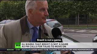 "Barnier warns ""Brexit is not a game"""