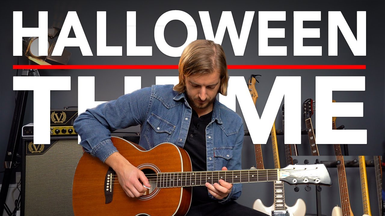 HALLOWEEN Movie Theme Guitar Lesson (John Carpenter) EASY Acoustic