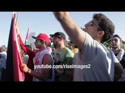 Israel vs. Palestine - Provocation at protest in Los Angeles 2014