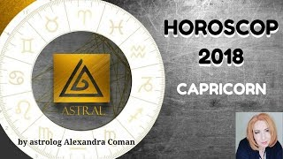 HOROSCOP 2018 - CAPRICORN - by Astrolog Alexandra Coman