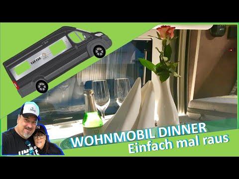 😍 WOHNMOBIL DINNER 🍕 Trotz Corona essen gehen 🥙 on Tour with ROBETA APOLLO