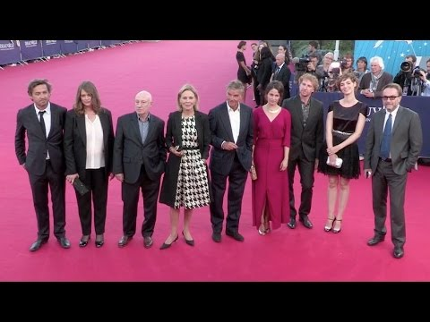 Louise Bourgoin, Marie Gillain and the Jury on the red carpet at the Deauville American Film Festiva