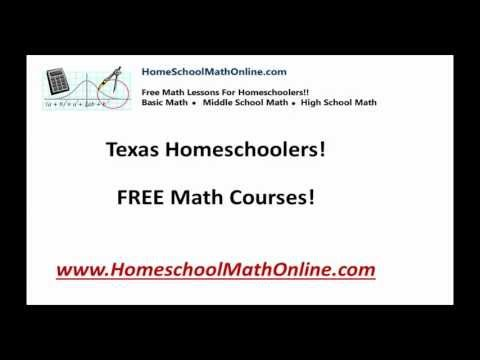 Texas Free Online Homeschool Math Courses