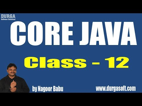 Learn Core Java Programming Tutorial Online Training by Nagoor Babu Sir On 15-04-2018
