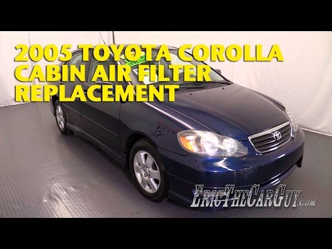 2000-2006 Toyota Corolla Cabin Air Filter Replacement -EricTheCarGuy