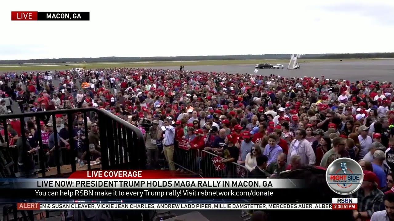 Watch Live: President Trump 'MAGA' Rally In Georgia | Video