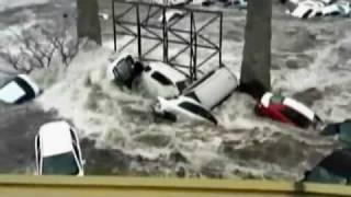 Tsunami of Tohoku Earthquake Before Wrecking the Coast