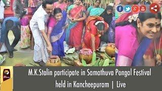 M.K.Stalin participate in Samathuva Pongal Festival  held in Kancheepuram | Live