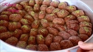 10 Dakika da tek lokmalık irmik tatlısı tarifi (cevizli) - Şerbeti tatlı tarifleri