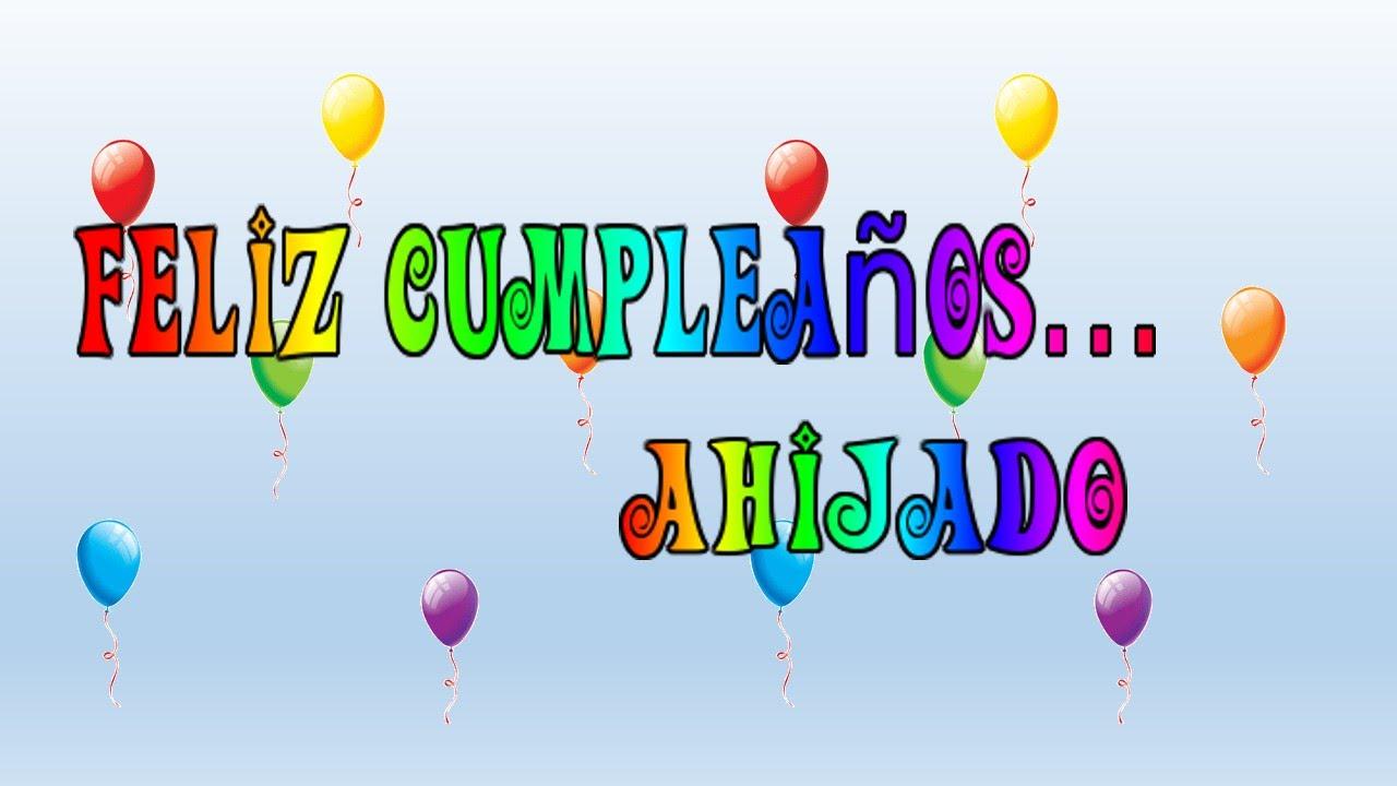Tarjeta virtual animada de Feliz cumpleaños ahijado YouTube