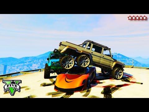 GTA 5 DEMOLITION DERBY DESTRUCTION - EPIC Custom Car Demolition Derby GTA Online - GTA Funny Moments