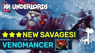 NEW ★★★ SAVAGES! Infinite ATK Stacks Savage? New Patch Builds | Dota Underlords
