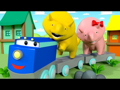 Learn Colors - Dino & Dina Learn About the Yellow Colour - Learn with Dino the Dinosaur 👶 Educati...