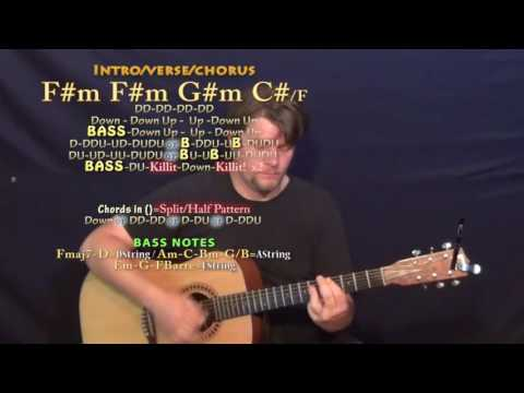 Tiimmy Turner (Desiigner) Guitar Lesson Chord Chart in F#m