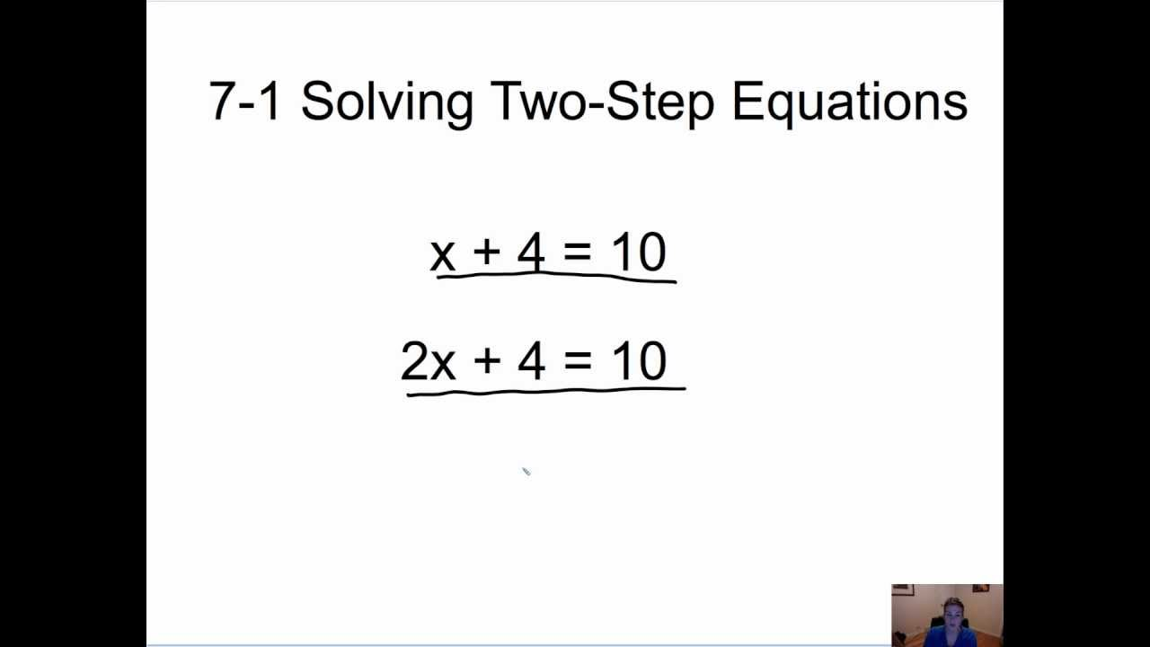 solving two step equations youtube - Solving Two Step Equations Worksheet