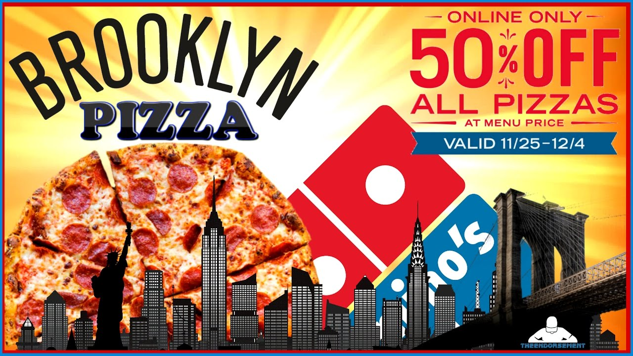 Domino S Brooklyn Pizza Review 50 Off Promo Theendorsement Youtube