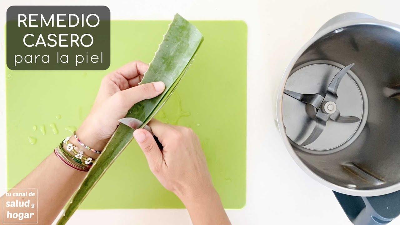 Remedios Caseros para la piel - cómo hacer gel de Aloe Vera en casa