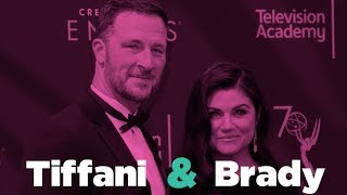 Tiffani Thiessen and Brady Smith interview about their early dating life and marriage