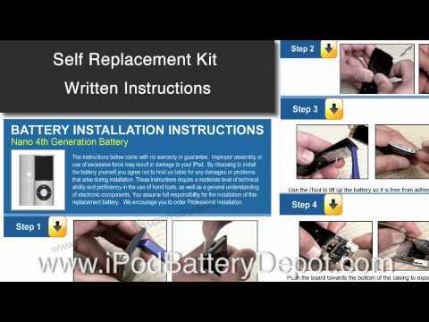 Ipod Battery Depot Instructions Youtube