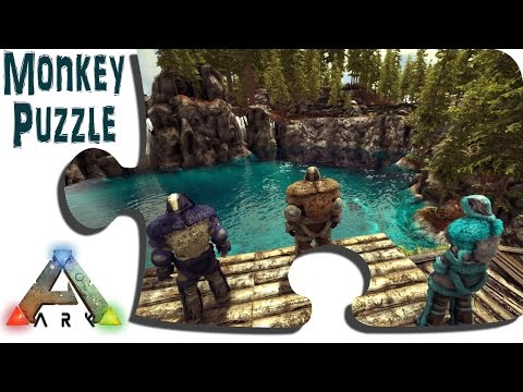 Exploring Ragnarok In Game - Ep16 - Transporting The Chalet To The Redwood Staging Area - ARK Map