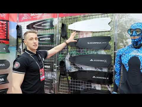 Ласты SCORPENA F1 - X3: обзор с выставки Moscow Dive Show 2021