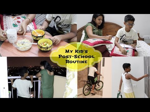 How do I manage my kid's post-school routine - Snacks,Studies and recreations