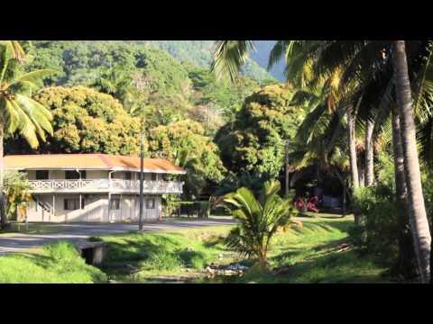 Iles Cook Rarotonga Avarua Centre ville / Cook islands Rarotonga Avarua City center
