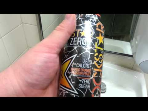 Rockstar Zero MANGO ORANGE PASSION FRUIT taste test speed chug