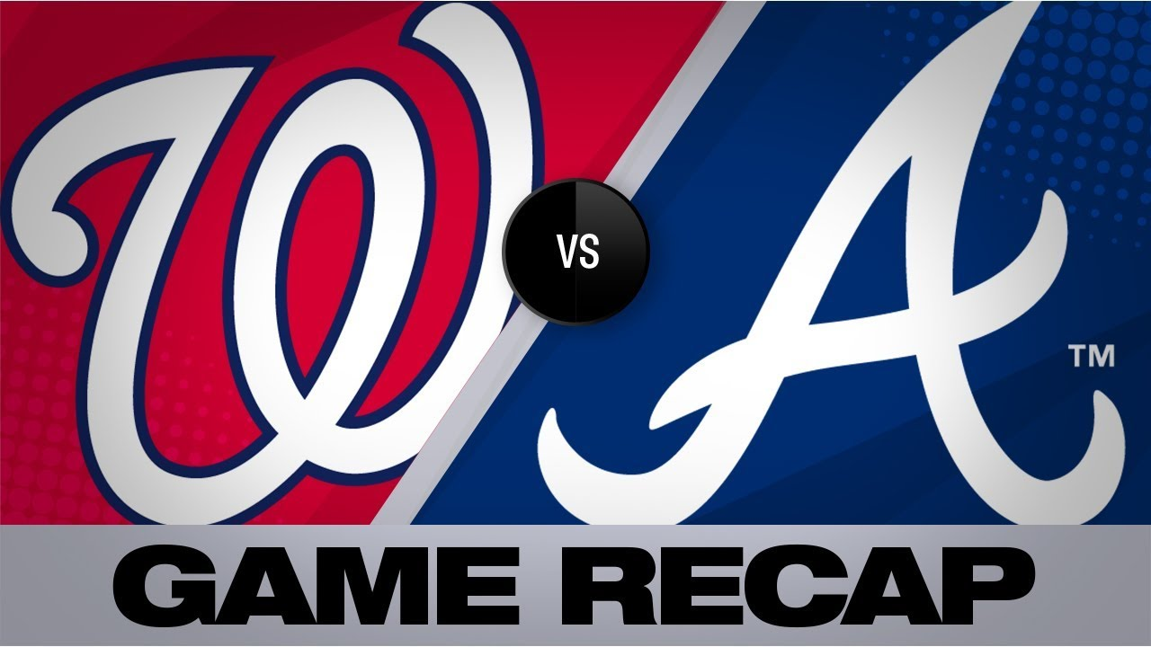Scherzer, Gomes lead Nationals to 9-4 win | Nationals-Braves Game Highlights 9/8/19