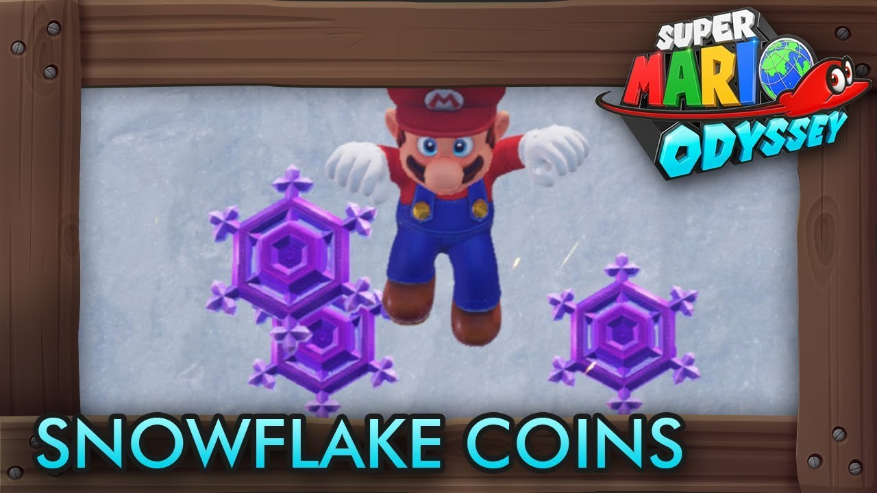 Super Mario Odyssey All Purple Snowflake Coins Snow Kingdom