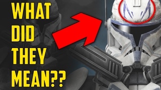 What did Captain Rex's Armor markings Symbolise?