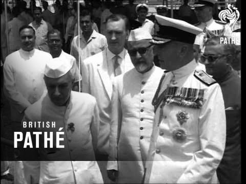 Mountbatten Attends Defence Talks In India (1963)