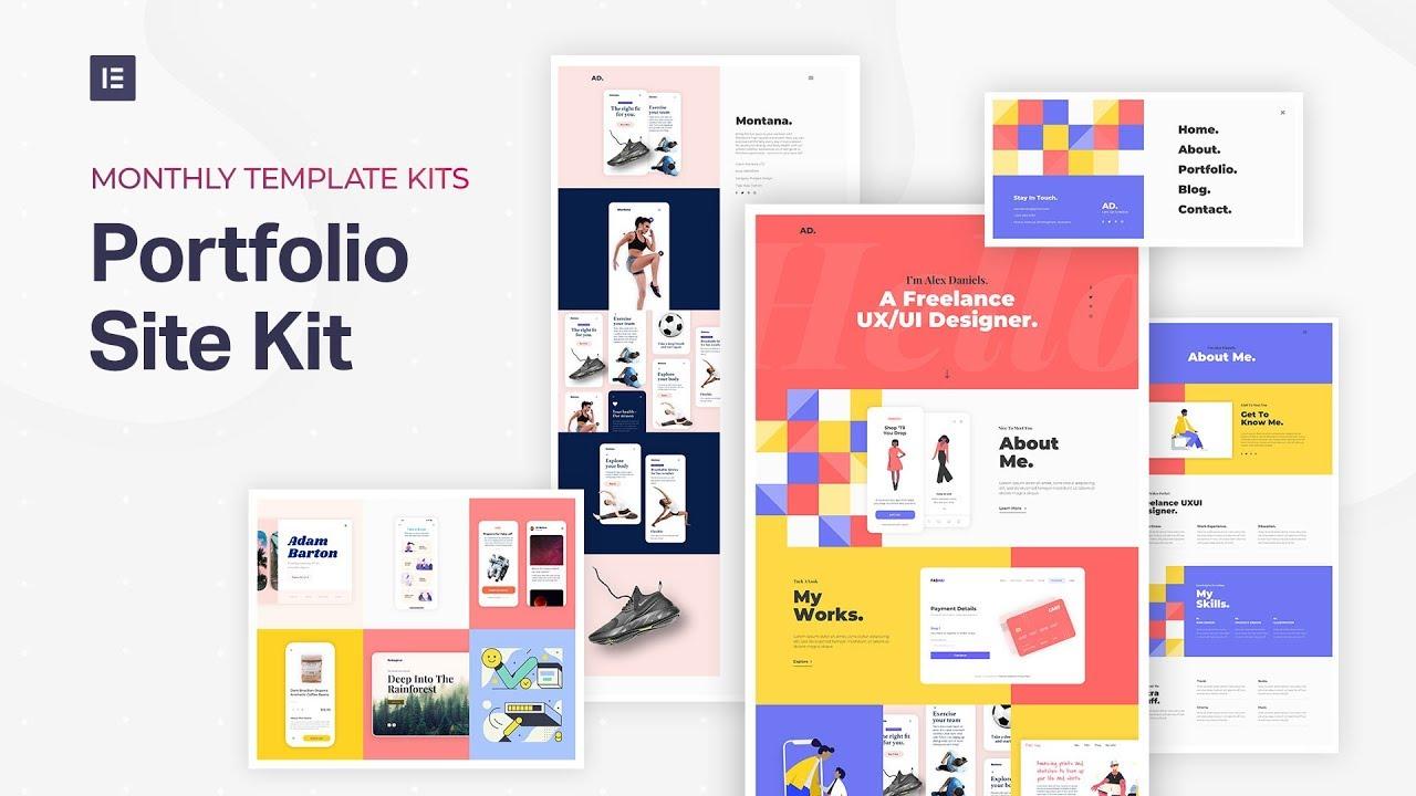 Portfolio Site Template Kit Elementor Com