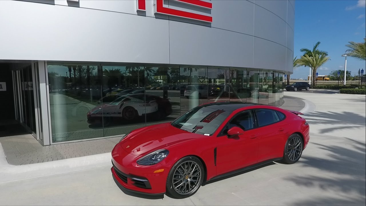 2017 Carmine Red Porsche Panamera 330 Hp Porsche West