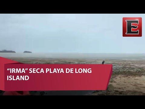 VIDEO: Huracán Irma deja sin mar playas de las Bahamas
