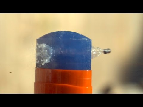 Slow Mo Pellet Penetration - The Slow Mo Guys