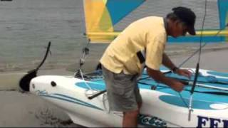 Hobie Wave - New method of stepping the mast