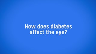 Diabetics Are at Increased Risk for Vision Loss