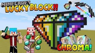 Minecraft LuckyBlock Chroma - กล่องใหม่ทำให้พี่พีร์เป็นไซตามะ Ft.KNCraZy