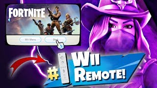 WINNING in Fortnite with a Wii REMOTE!