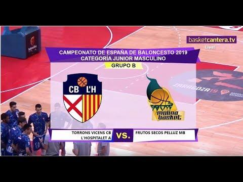 U18M -  CB L'HOSPITALET Vs. MOLINA BASKET - Cpto. España Junior 2019 (BasketCantera.TV)